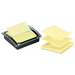 Post-it Pop-up Notes Super Sticky Super Sticky Pop-up Note Dispenser/Value Pack, 4 x 4 Self-Stick Notes, Black