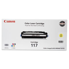 Canon 2575B001 (117) Toner, 4,000 Page-Yield, Yellow