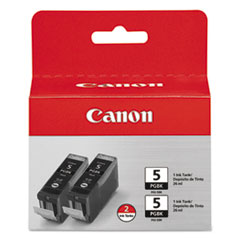 Canon 0628B009 (PGI-5BK) Ink, 2/Pack, Black