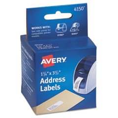 Avery Thermal Printer Labels, Address, 1-1/8 x 3-1/2, White, 260 Labels/Box