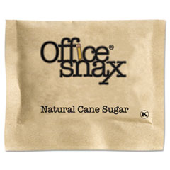 Office Snax Natural Cane Sugar, 2000 Packets/Carton