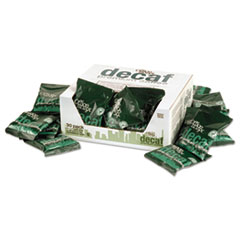 Office Snax 100% Pure Arabica Coffee, Original Blend Decaffeinated, 1.5oz Packet, 63/Carton