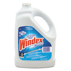 Windex Powerized Formula Glass & Surface Cleaner, 1gal Bottle, 4/Carton