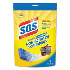 CLO 10004PK S.O.S Non-Scratch Soap Scrubbers CLO10004PK