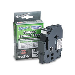 Brother P-Touch TZ Security Tape Cartridge for P-Touch Labelers, 3/4w, Black on White
