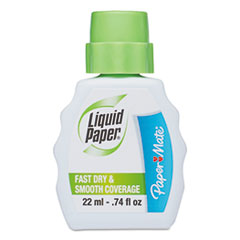 Paper Mate Liquid Paper Fast Dry Correction Fluid, 22 ml Bottle, White, 1/Dozen