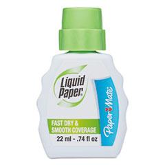 Paper Mate Liquid Paper Fast Dry Correction Fluid, 22 ml Bottle, White, 1/Dozen