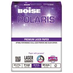Boise POLARIS Premium Laser Paper, 97 Bright, 28lb, 8 1/2 x 11, White