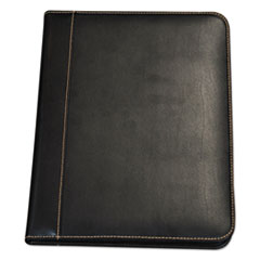 SAM 71710 Samsill Contrast Stitch Leather Padfolio SAM71710