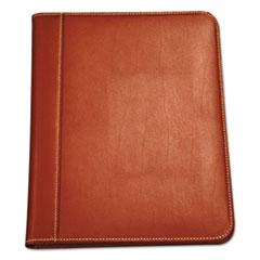 SAM 71716 Samsill Contrast Stitch Leather Padfolio SAM71716