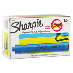 Sharpie Accent Tank Style Highlighter, Chisel Tip, Blue, 12/Pk