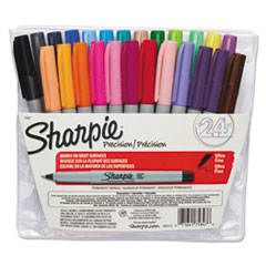 Sharpie Permanent Markers, Ultra Fine Point, Assorted, 24/Set