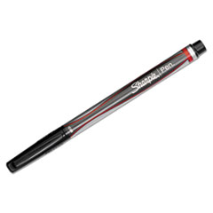 Sharpie Plastic Point Stick Permanent Water Resistant Pen, Red Ink, Medium, Dozen