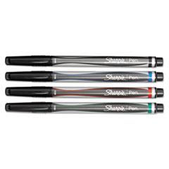 Sharpie Plastic Point Stick Permanent Water Resistant Pen, Assorted Ink, Medium, 4/Set