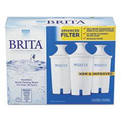 Brita Water Filter Pitcher Advanced Replacement Filters, 3/Pack