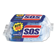S.O.S. All Surface Scrubber Sponge, 2 1/2 x 4 1/2, 0.9