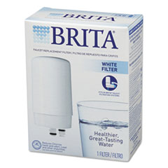 Brita On Tap Faucet Water Filter System Replacement Filters, White