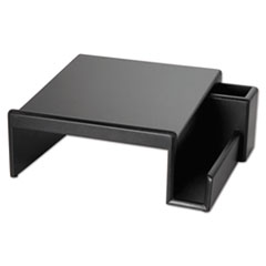 Rolodex Wood Tones Phone Center Desk Stand, 12 1/8 x 10, Black