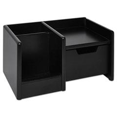 Rolodex Wood Tones Handheld Electronics Organizer, Wood, 10 x 6 x 5, Black