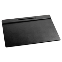 Rolodex Wood Tone Desk Pad, Black, 24 x 19