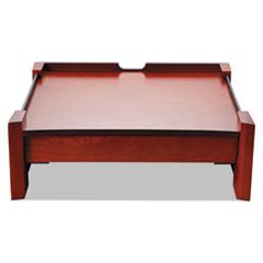 Rolodex Monitor Stand, Drawer/Cord Organizer, 14 1/2 x 13 1/2 x 5 1/8, Black/Mahogany