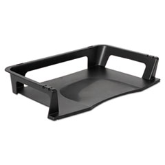 Rubbermaid Regeneration Letter Tray, Plastic, Black