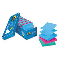 Post-it Pop-up Notes Original Pop-up Refill, 3 x 3, Jaipur, 100/Pad, 18 Pads/Pack