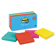 Post-it Notes Original Pads in Jaipur Colors, 3 x 3, 100/Pad, 14 Pads/Pack