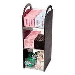 Vertiflex Commercial Grade Compact Condiment Organizer, 6 1/8w x 8d x 18h, Black