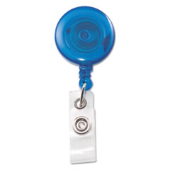 Advantus Translucent Retractable ID Card Reel, 34