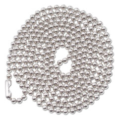 Advantus ID Badge Holder Chain, Ball Chain Style, 36