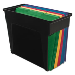 Advantus Desktop File Box, Plastic, 5 1/2 x 13 x 9 5/8, Black, Letter