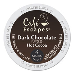 GMT 6802 Café Escapes® Dark Chocolate Hot Cocoa K-Cups® GMT6802