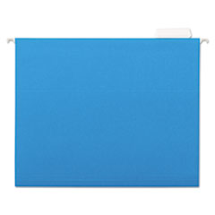 Universal One Hanging File Folders, 1/5 Tab, 11 Point Stock, Letter, Blue, 25/Box