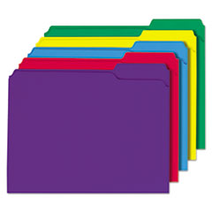 Universal One File Folders, 1/3 Cut Double-Ply Top Tab, Letter, Assorted Colors, 100/Box