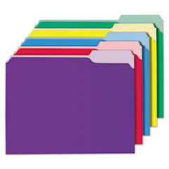 Universal One File Folders, 1/3 Cut Single-Ply Top Tab, Letter, Assorted, 100/Box