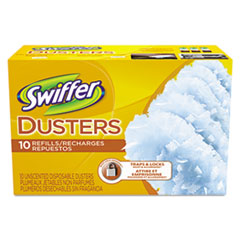 Swiffer Refill Dusters, Cloth, White, 10/Box