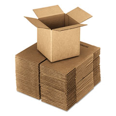 UFS 444 United Facility Supply Brown Corrugated - Cubed Fixed-Depth Shipping Boxes UFS444
