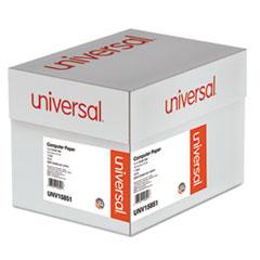 Universal Green Bar Computer Paper, 18lb, 14-7/8 x 11, Perforated Margins, 2600 Sheets