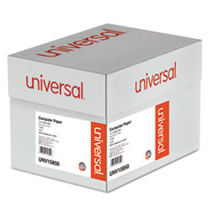 Universal Green Bar Computer Paper, 15lb, 14-7/8 x 11, Perforated Margins, 3000 Sheets