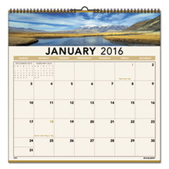 AT-A-GLANCE Open Plan Landscape Wall Calendar, 12 x 12, 2016