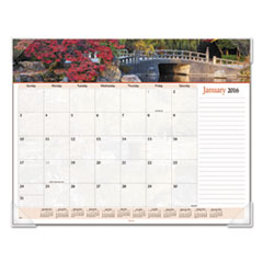 AT-A-GLANCE Landscape Panoramic Desk Pad, 22 x 17, Landscapes, 2016