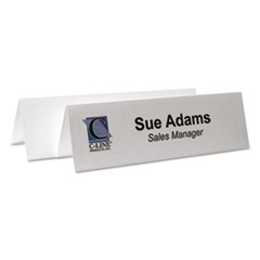 C-Line Tent Cards, White, 2 1/2 x 8 1/2, 2 Card/Sheet, 50 Sheets/Box
