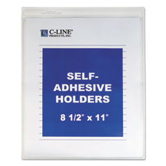 CLI 70911EA C-Line Self-Adhesive Poly Shop Ticket Holder CLI70911EA