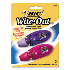 BIC Wite-Out Mini Twist Correction Tape, Non-Refillable, 1/5
