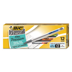 BIC Mechanical Pencil Xtra Precision, 0.5mm, Clear, Dozen
