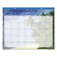 AT-A-GLANCE Tropical Escape Desk Pad, 22 x 17, 2016