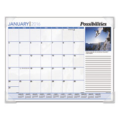 AT-A-GLANCE Inspirational Monthly Desk Pad Calendar, 22 x 17, Inspirational, 2016
