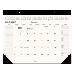 AT-A-GLANCE Executive Desk Pad, 22 x 17, Buff, 2016