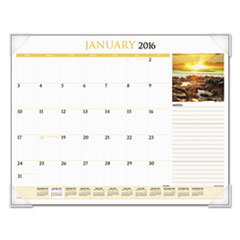 AT-A-GLANCE Scenic Monthly Desk Pad Calendar, 22 x 17, 2016